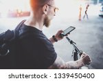 bearded muscular tattooed... | Shutterstock . vector #1339450400