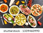 italian home made pizza | Shutterstock . vector #1339460990