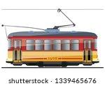vintage tram. typical tram of... | Shutterstock .eps vector #1339465676