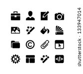 16 icons set. web design  ... | Shutterstock .eps vector #133947014