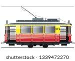 vintage tram. typical tram of... | Shutterstock .eps vector #1339472270
