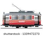 vintage tram. typical tram of... | Shutterstock .eps vector #1339472273