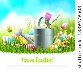 modern easter greeting card...   Shutterstock .eps vector #1339479503