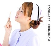 Nurse concept in Thailand hospital include clipping path - stock photo