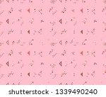 seamless vector geometrical... | Shutterstock .eps vector #1339490240
