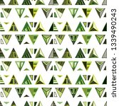 seamless vector geometrical... | Shutterstock .eps vector #1339490243