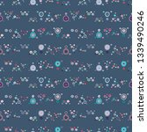 seamless vector geometrical... | Shutterstock .eps vector #1339490246