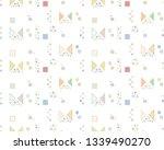 seamless vector geometrical... | Shutterstock .eps vector #1339490270