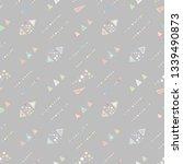 seamless vector geometrical... | Shutterstock .eps vector #1339490873