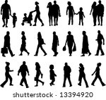 walking silhouette | Shutterstock .eps vector #13394920