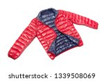 blue and red full zipper... | Shutterstock . vector #1339508069
