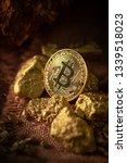 gold bitcoin physical bitcoin...   Shutterstock . vector #1339518023