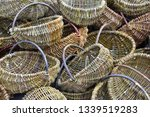 traditional wreathed baskets in ...   Shutterstock . vector #1339519283