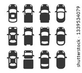 car top view icons set on white ... | Shutterstock . vector #1339534079