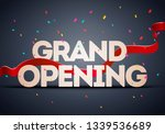 vector grand opening ceremony... | Shutterstock .eps vector #1339536689