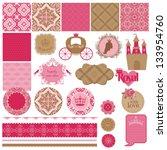 scrapbook design elements  ... | Shutterstock .eps vector #133954760