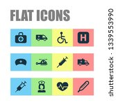 drug icons set with aid  nurse... | Shutterstock .eps vector #1339553990