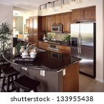 kitchen interior design | Shutterstock . vector #133955438