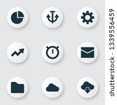 user icons set with anchor ...