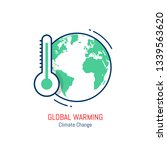 global warming icon as eps 10... | Shutterstock .eps vector #1339563620