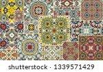 vector patchwork quilt pattern. ...   Shutterstock .eps vector #1339571429