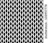 Seamless Pattern With Black Fish