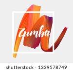zumba   modern handwritten...   Shutterstock .eps vector #1339578749