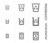vector icon set of recycle bin... | Shutterstock .eps vector #1339580966