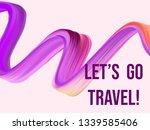 wavy colorful brush stroke line.... | Shutterstock .eps vector #1339585406