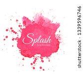 elegant watercolor pink splash... | Shutterstock .eps vector #1339596746