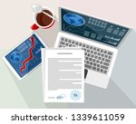 vector illustration of objects... | Shutterstock .eps vector #1339611059