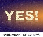 banner yes. speech bubble ...   Shutterstock .eps vector #1339611896