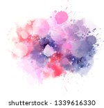 pastel light grunge watercolor... | Shutterstock .eps vector #1339616330