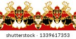 seamless border with golden... | Shutterstock . vector #1339617353
