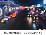 defocused night city life  cars ...   Shutterstock . vector #1339634456