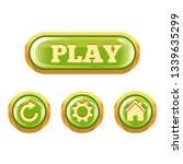 set of green glassy buttons....