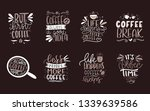 set of 8 coffee lettering... | Shutterstock .eps vector #1339639586
