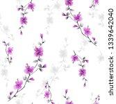 seamless pattern small wild...   Shutterstock . vector #1339642040