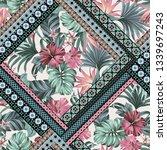 exotic tropical flowers in... | Shutterstock . vector #1339697243