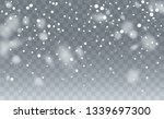 realistic snowflakes background.... | Shutterstock .eps vector #1339697300