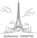 architecture,art,attraction,black,built,capital,cartoon,champ,city,construction,culture,de,draw,drawing,eiffel