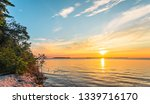 Sunset on Lake Michigan at Peninsula State Park, Door County, Wisconsin