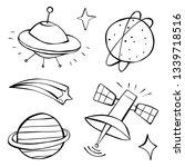 cute cartoon black and white... | Shutterstock .eps vector #1339718516