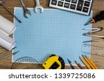 drawing tools with millimeter... | Shutterstock . vector #1339725086