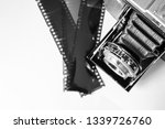 old analog camera and... | Shutterstock . vector #1339726760