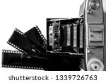 old analog camera and... | Shutterstock . vector #1339726763