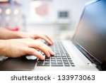 man working on the laptop at... | Shutterstock . vector #133973063