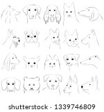 vector outline images of dogs... | Shutterstock .eps vector #1339746809