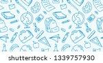 vintage doodle drawing of back... | Shutterstock .eps vector #1339757930