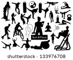 sport and fitness silhouettes   Shutterstock .eps vector #133976708